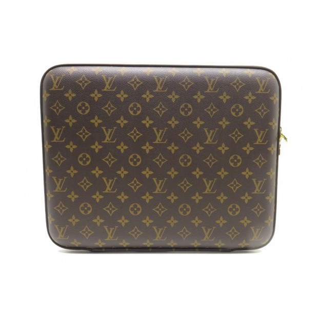 "NEUF HOUSSE LOUIS VUITTON COQUE PC 15"" EN TOILE MONOGRAM LAPTOP SLEEVE 670€"