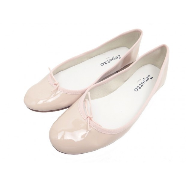 NEUF CHAUSSURES REPETTO BALLERINES CENDRILLON 39 EN CUIR ROSE FLAT SHOES 195€