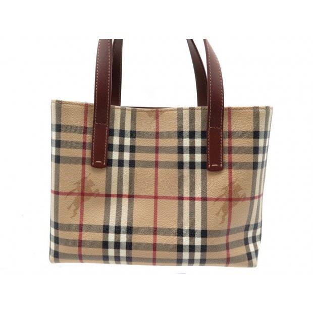 NEUF SAC A MAIN BURBERRY CABAS 25 CM EN TOILE TARTAN CHECK CANVAS TOTE BAG 895€