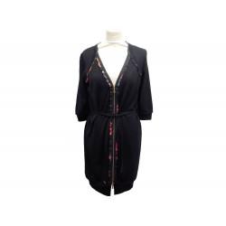 ROBE LOUIS VUITTON ZIPPEE T 38 M EN CACHEMIRE LAINE & SOIE NOIRE DRESS 1600€