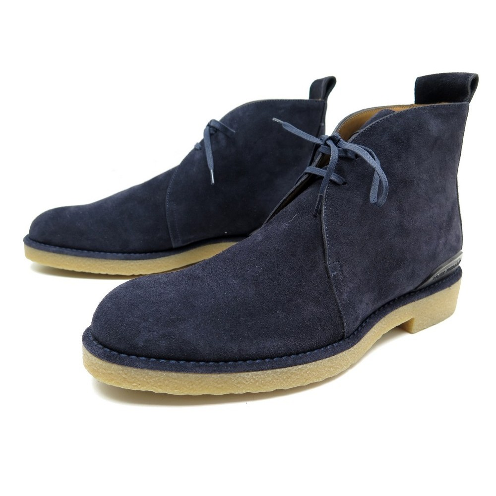 91e4dbe6af40 NEUF CHAUSSURES LOUIS VUITTON TUNDRA 6.5 41.5 DERBY CHUKKA DAIM BLEU SHOES  550€. Loading zoom
