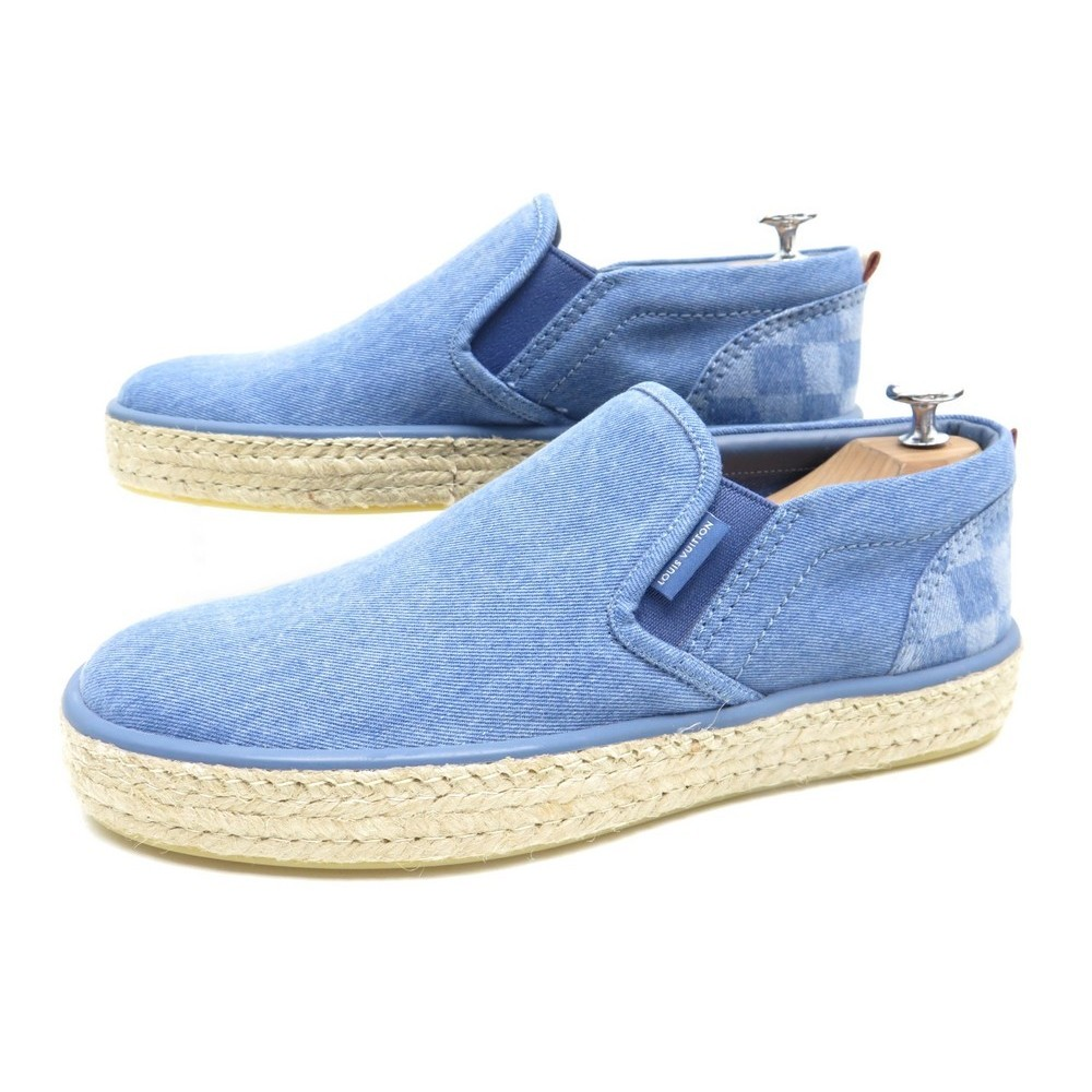 05beb0c5e184 NEUF CHAUSSURE LOUIS VUITTON 7 41 COCONUT ESPADRILLE BASKET SLIP ON BLUE  JEANS. Loading zoom
