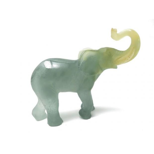 NEUF FIGURINE ANIMALIERE DAUM ELEPHANT EN PATE DE CRISTAL GRIS STATUETTE 650€