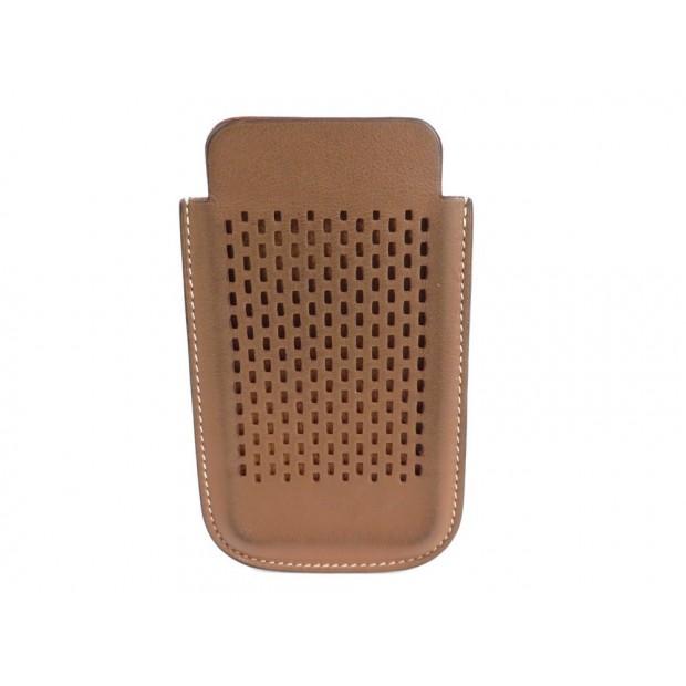 ETUI POUR TELEPHONE HERMES IPHONE 4 / 5 CUIR MARRON BROWN PHONE CASE 320€