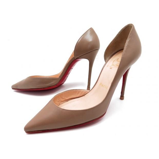 nouveau style d822e 388cd chaussures christian louboutin iriza escarpins 37 cuir