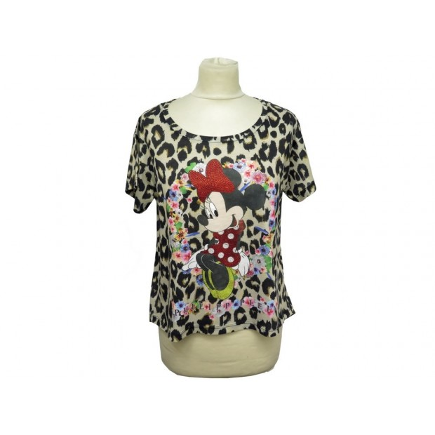 HAUT TSHIRT PHILIPP PLEIN COUTURE DELICIOUS MINNIE LEOPARD T 36 S TOP 300€