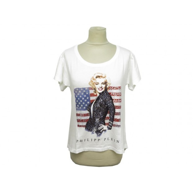 HAUT PHILIPP PLEIN MARYLIN MONROE USA FLAG T 36 S GENTLEMEN PREFER BLONDES 400€
