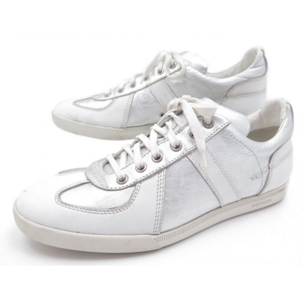 CHAUSSURES DIOR HOMME BASKETS 9E 43 EN CUIR BLANC WHITE LEATHER SNEAKERS 500€