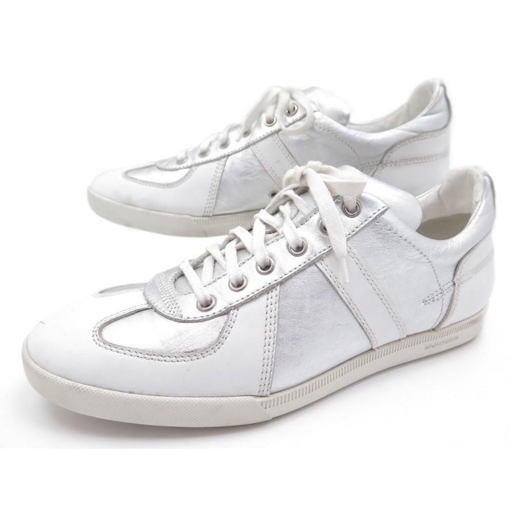 chaussures dior homme baskets 9e 43 en cuir blanc b3665fd05ee