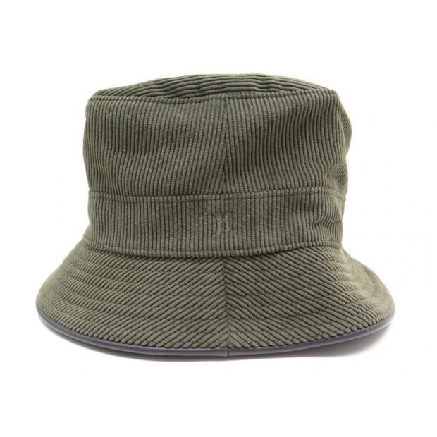 NEUF CHAPEAU HERMES T 60 SIMPLE BRODE H 022012N EN VELOURS DEPERLANT HAT 280€