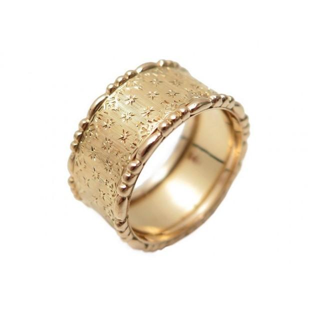 NEUF BAGUE BUCCELLATI TAILLE 57 EN OR JAUNE 18K 7.7GR BOITE GOLD RING 4500€