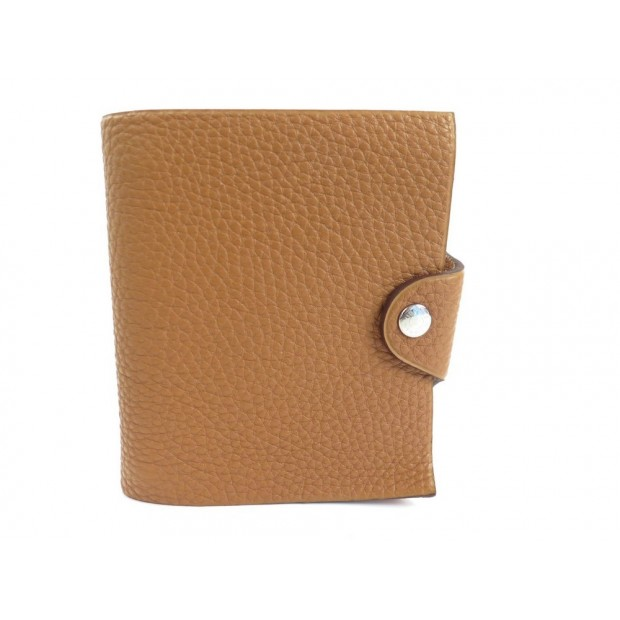 NEUF COUVERTURE AGENDA HERMES ULYSSE MINI BLOC NOTE CUIR TOGO GOLD DIARY 205€