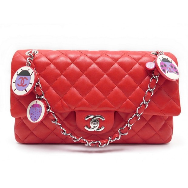 NEUF SAC A MAIN CHANEL TIMELESS CLASSIQUE ROUGE CORAIL COCCINELLE HAND BAG 4480€