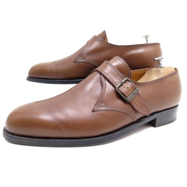 CHAUSSURES JM WESTON 531 9E 43 MOCASSINS A BOUCLE EN CUIR MARRON MONK SHOES 690€