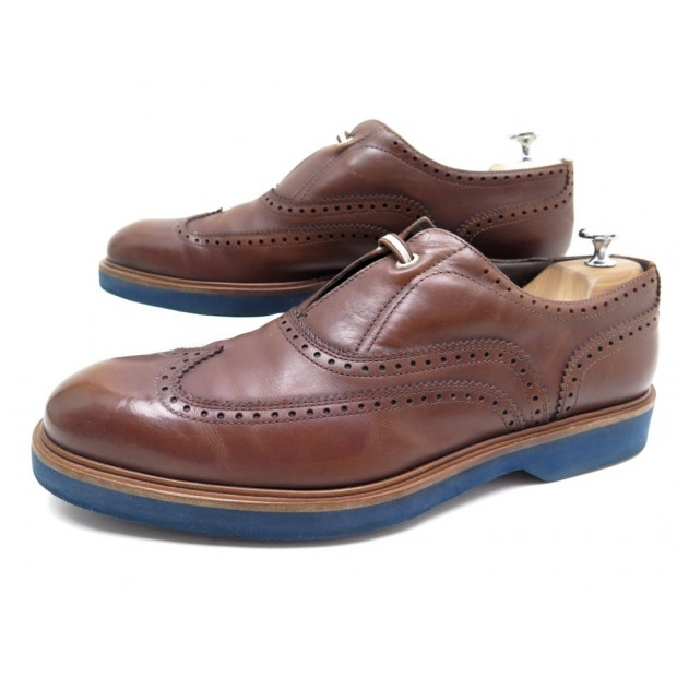 CHAUSSURES SALVATORE FERRAGAMO OXFORD 9 IT 43.5 FR MOCASSINS EN CUIR MARRON 575€