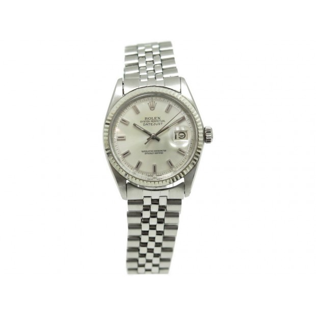MONTRE ROLEX DATEJUST 1601 36 MM AUTOMATIQUE EN ACIER ARGENTE WATCH STEEL 6100€
