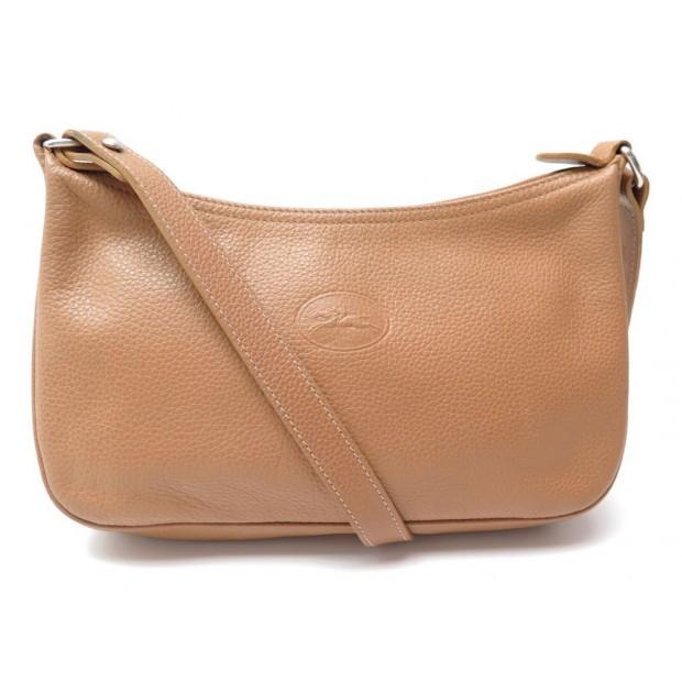 24ecad7325c75 sac a main longchamp pochette bandouliere cuir graine
