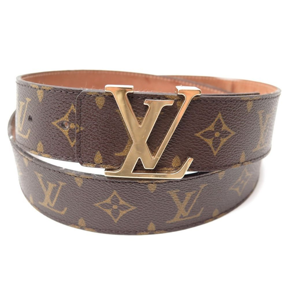 f1d8e50e21a1 CEINTURE LOUIS VUITTON M9608 INITIALES LV EN TOILE MONOGRAM T100 MIXTE BELT  335€. Loading zoom