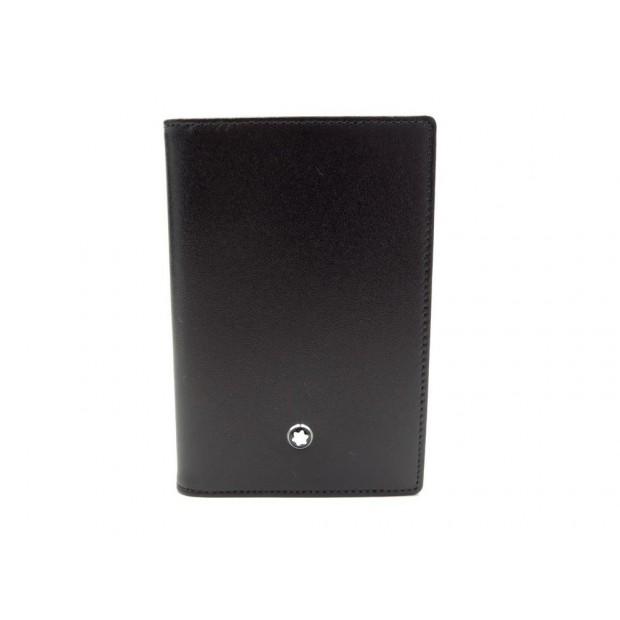NEUF PORTE CARTES MONTBLANC MEISTERSTUCK 14108 EN CUIR NOIR CARD HOLDER 155€