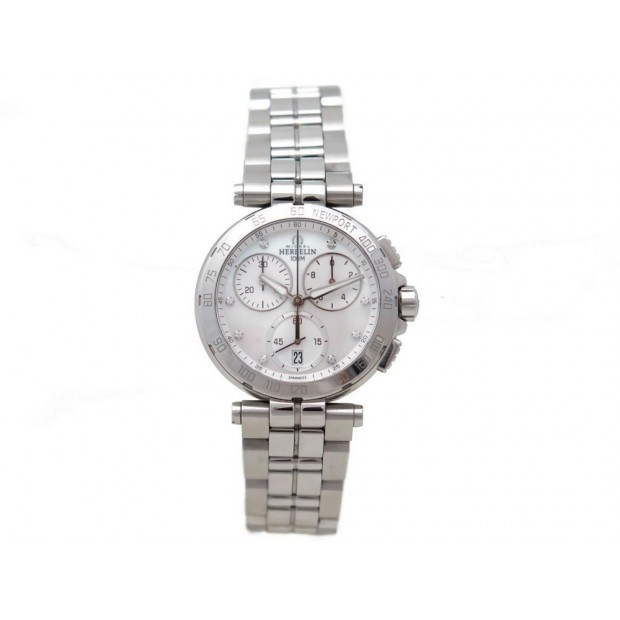 NEUF MONTRE MICHEL HERBELIN NEWPORT 33696/B59 33 MM QUARTZ CHRONO DIAMANT 790€