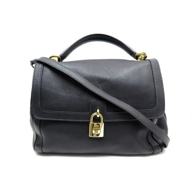 SAC A MAIN DOLCE & GABBANA MISS BONITA EN CUIR NOIR BANDOULIERE BAG PURSE 1300€