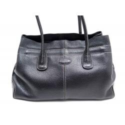 SAC A MAIN TOD'S CABAS D-BAG EN CUIR GRAINE NOIR TOTE HAND BAG PURSE 1000€