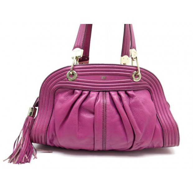 SAC A MAIN LANCEL TONNELLE EN CUIR GRAINE FUSHIA HAND BAG PINK LEATHER 600€