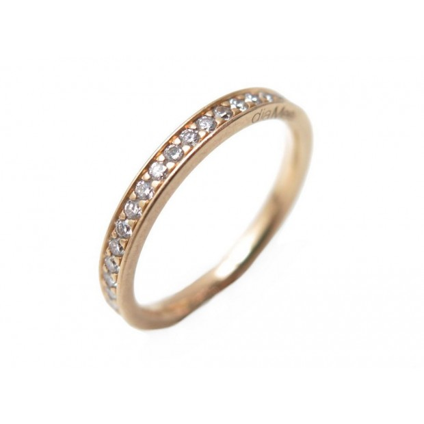BAGUE DIAMEE ALLIANCE 4 GRAINS 52 EN OR JAUNE 18K 32 DIAMANTS 0.22 CT RING 1490€