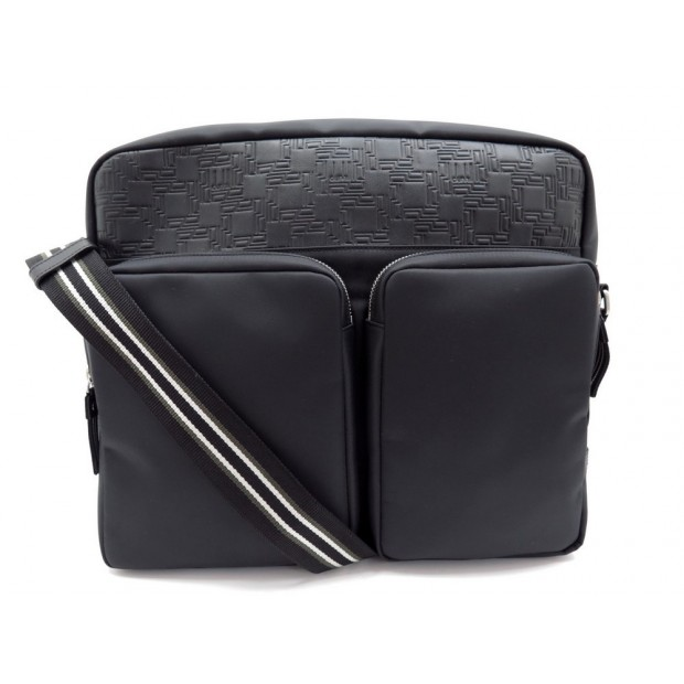 NEUF SAC A MAIN ALFRED DUNHILL BESACE SACOCHE MESSENGER BANDOULIERE NOIRE 695€