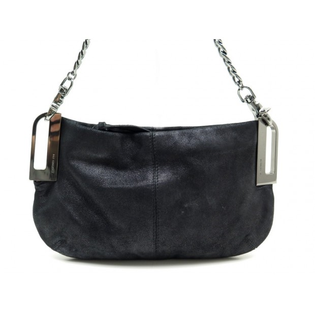 SAC A MAIN BARBARA BUI POCHETTE EN CUIR NOIR BLACK LEATHER HAND BAG PURSE