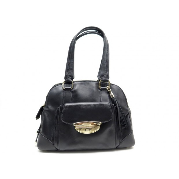 SAC A MAIN LANCEL ADJANI GM A03432 EN CUIR NOIR LARGE BLACK HAND BAG 1250€