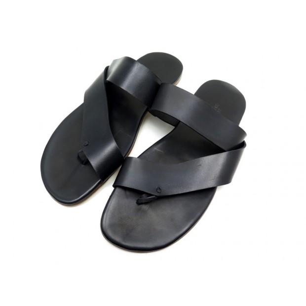 Noir 43 Chaussures Cuir Tongs Hermes Homme En W9YHIED2