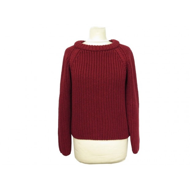 NEUF PULL HERMES MAILLES TAILLE 40 M EN COTON SOIE ROUGE SWEATER RED COTTON 950€