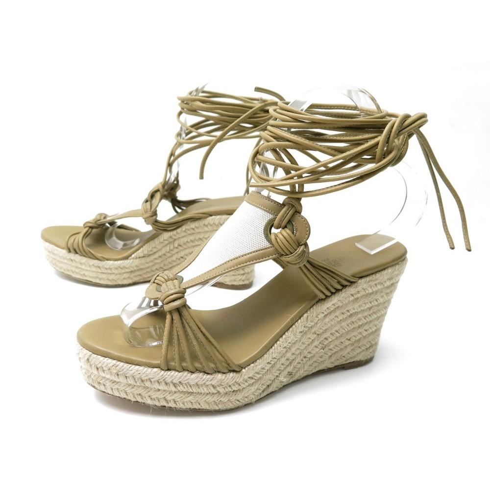 Chaussures Sandales Talons A 38 Hermes Espadrilles WBodQrxCe