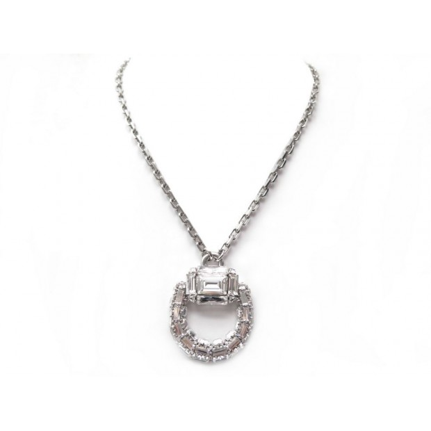 NEUF COLLIER GUCCI MORS 80 CM METAL PALLADIE CRISTAL BOITE CRYSTAL NECKLACE 670€