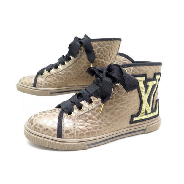 NEUF CHAUSSURES LOUIS VUITTON PUNCHY SEQUINS 35.5 36.5 BASKETS SNEAKERS 590€