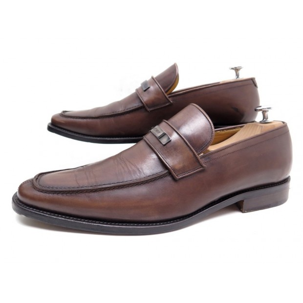 CHAUSSURES GIVENCHY 41 MOCASSINS EN CUIR MARRON BROWN LEATHER SHOES 550€