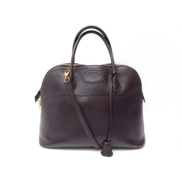 SAC A MAIN HERMES BOLIDE 35 BANDOULIERE CUIR TAURILLON CLEMENCE EBENE BAG 5600€