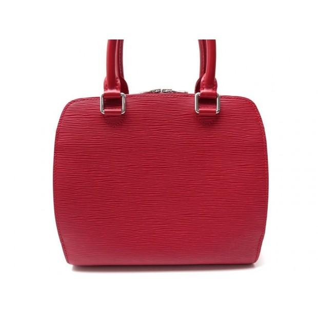 NEUF SAC A MAIN LOUIS VUITTON PONT NEUF PM EN CUIR EPI ROUGE RED HAND BAG 1400€