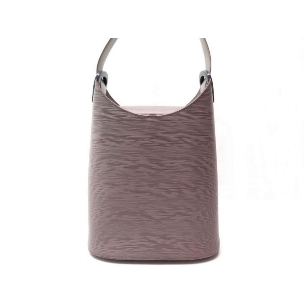 SAC A MAIN LOUIS VUITTON VERSEAU EN CUIR EPI GRIS LILA HAND BAG PURSE 1020€