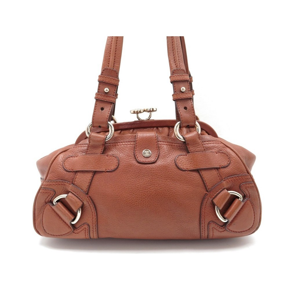 08a5df34f9 VINTAGE SAC A MAIN CELINE CUIR GRAINE MARRON. Loading zoom