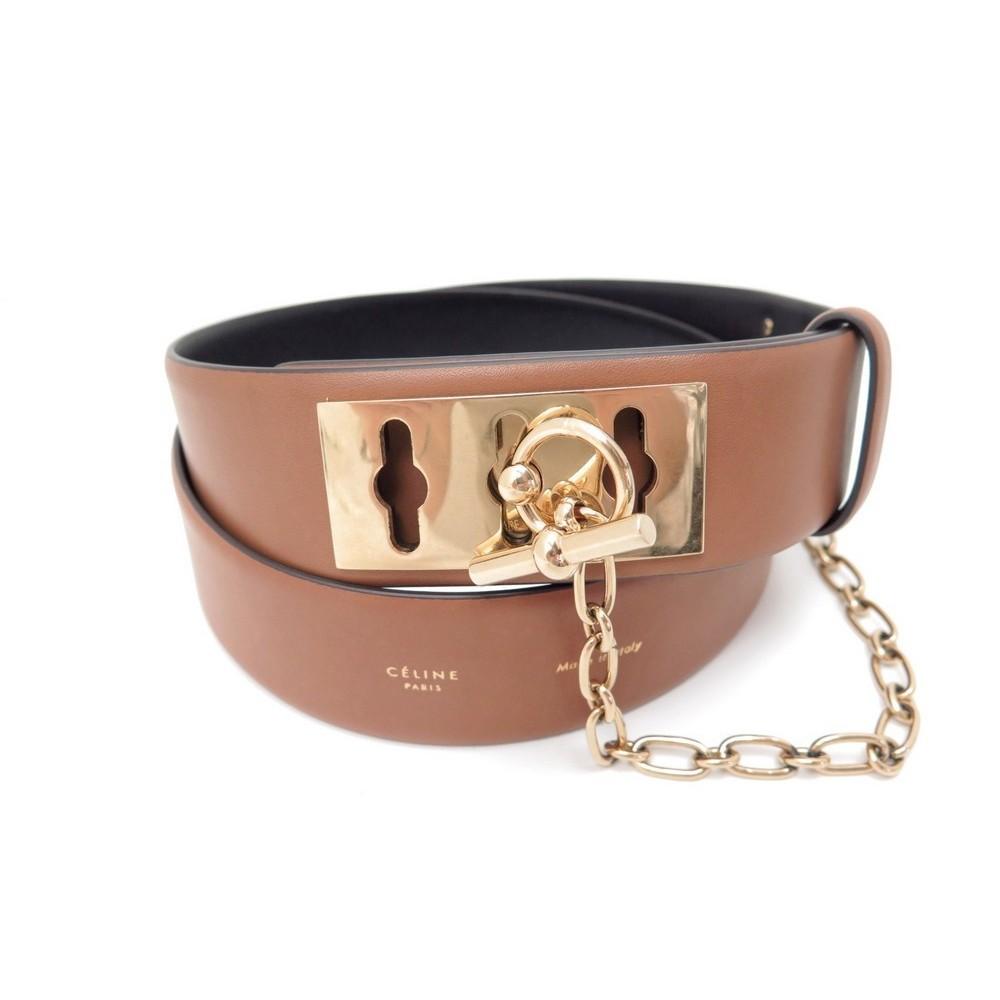 ceinture celine collier de chien t 95 cuir marron 4d1647bf297