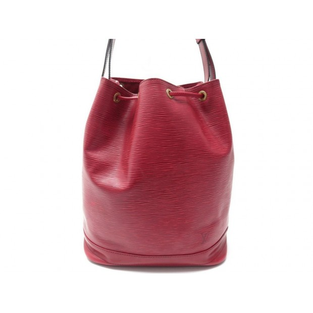 VINTAGE SAC A MAIN LOUIS VUITTON NOE GM EN CUIR EPI ROUGE TROUSSE HAND BAG 1640€