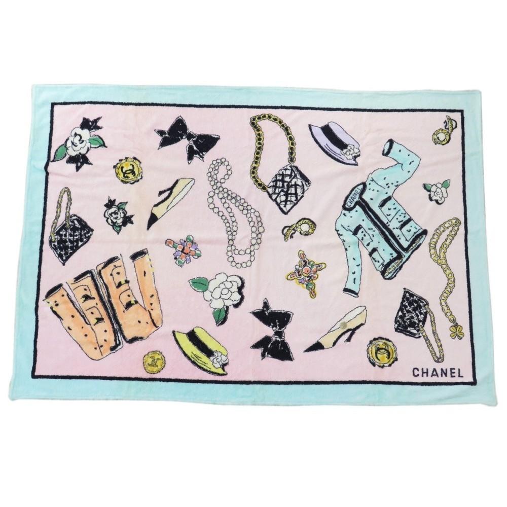 drap de bain chanel serviette de plage sac a main. Black Bedroom Furniture Sets. Home Design Ideas