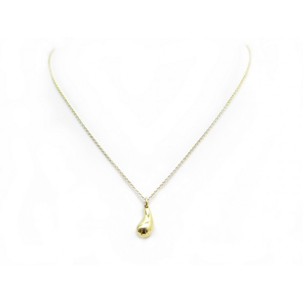 NEUF COLLIER TIFFANY & CO LARME EN OR JAUNE 18K 3.6 GR TEARDROP NECKLACE 1250€