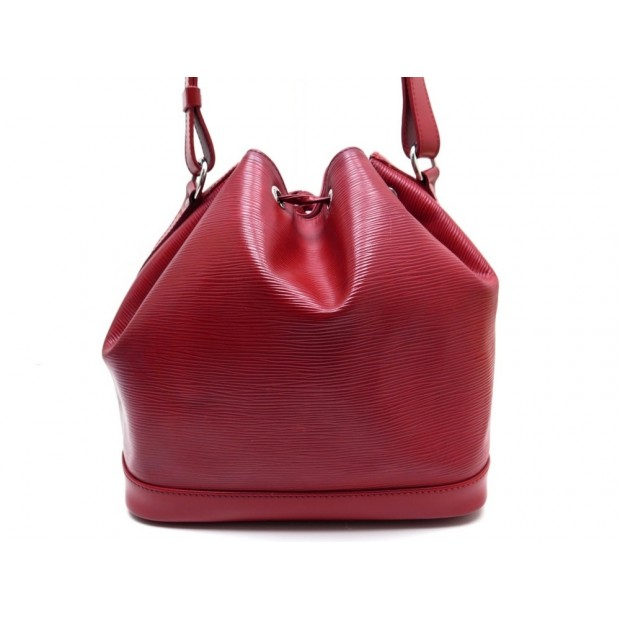 SAC A MAIN LOUIS VUITTON NOE PM SEAU EN CUIR EPI ROUGE RED HAND BAG PURSE 1410€