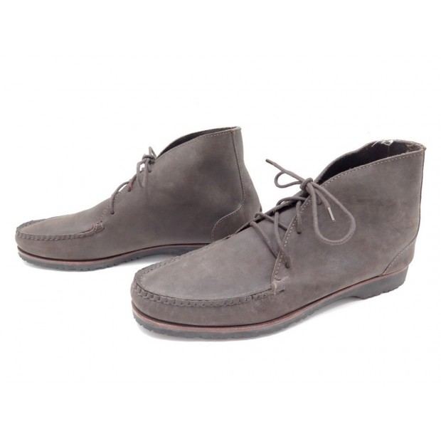 CHAUSSURES QUODDY BOTTINES CHUKKA 11 44.5 CUIR SUEDE GRIS TAUPE BOOTS SHOES 340€