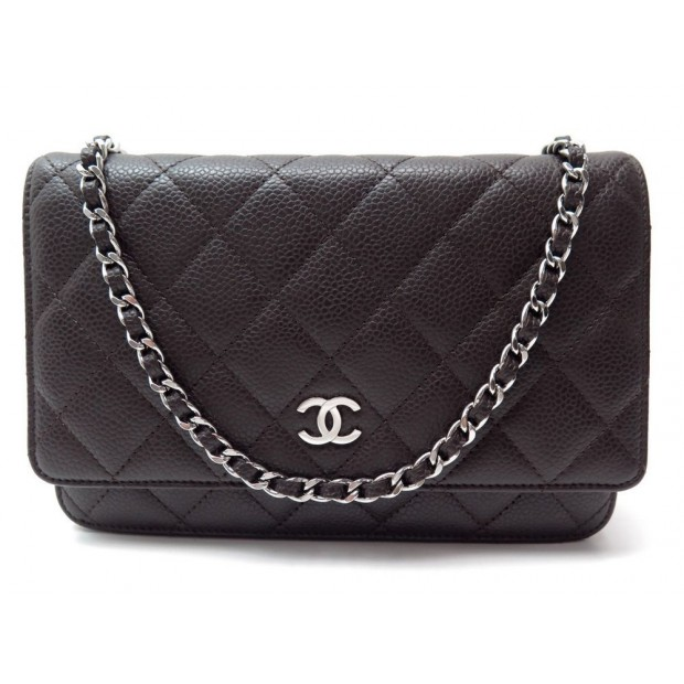 NEUF SAC A MAIN CHANEL WALLET ON CHAIN CLASSIC MATELASSE CAVIAR WOC PURSE 1865€