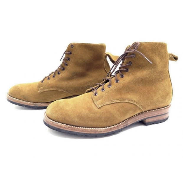 CHAUSSURES YUKETEN BOTTINES 11 DAIM MARRON