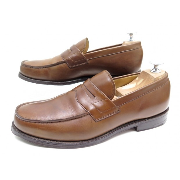 CHAUSSURES CHURCH'S WESLEY MOCASSINS 8F 42 EN CUIR MARRON + BOITE LOAFERS 520€